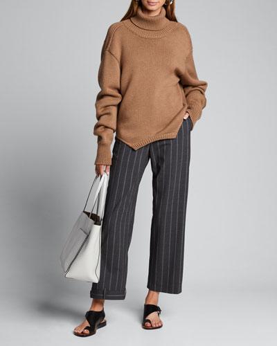 Cowl Back Upside Down Sweater