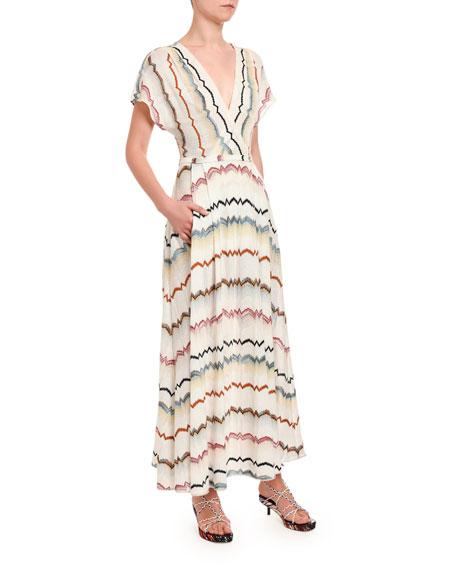 Stereo Zigzag Wrap Dress