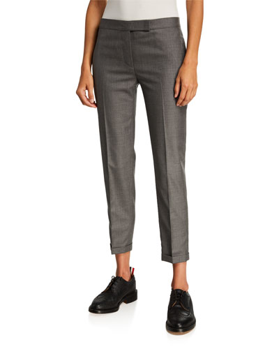 Low-Rise Skinny Cropped Trousers