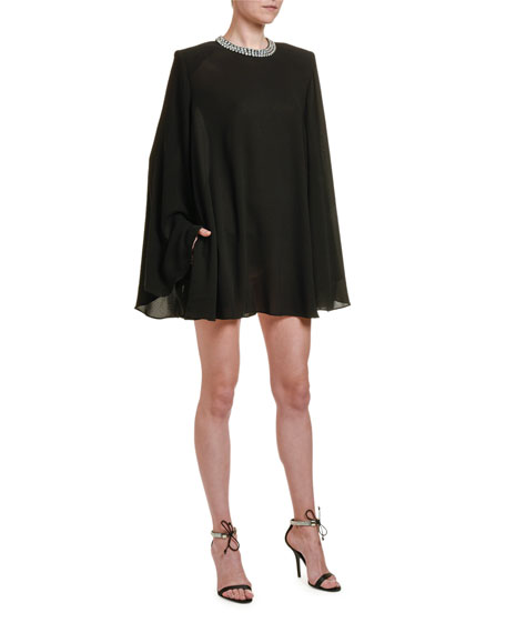 Long-Sleeve Trapeze Cocktail Dress