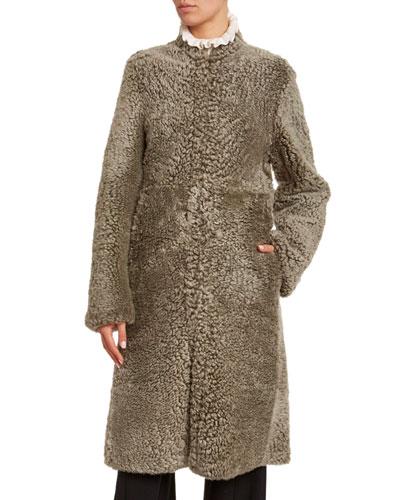 Shearling High-Neck Coat