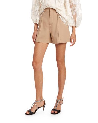 Wool Crepe Shorts