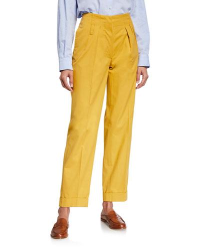 Double-Pinces Tailored Pants