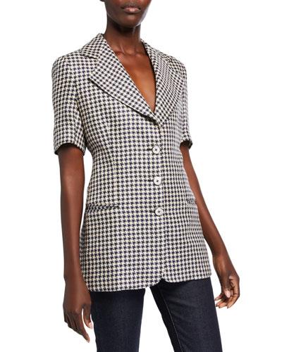 Fitted Short-Sleeve Blazer