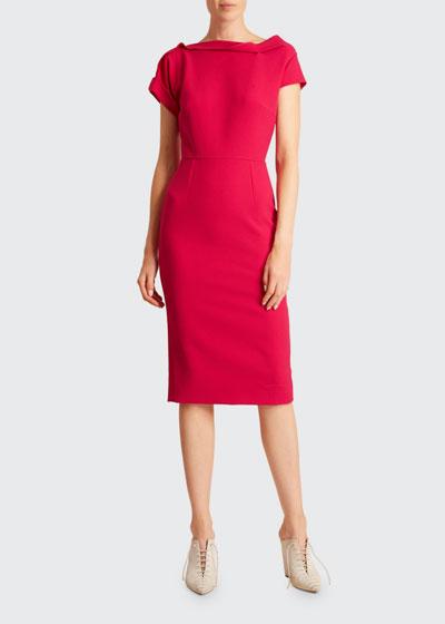 Bernin Crepe Sheath Dress