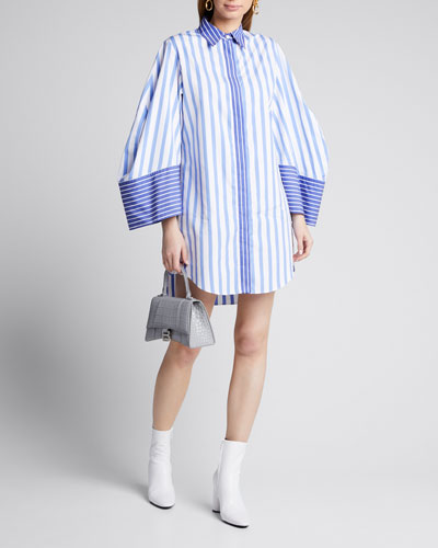 Striped Mini Shirtdress