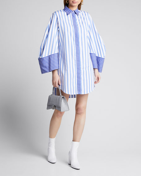 Image 1 of 1: Striped Mini Shirtdress