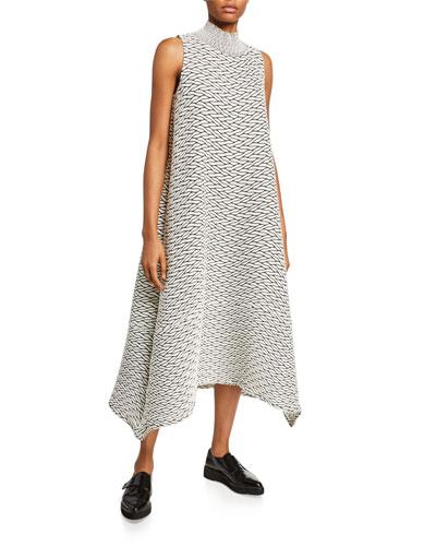 Billowy Stretch A-Line Dress