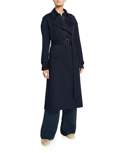 Cashmere Belted Trench Coat