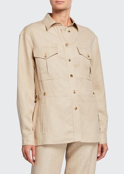 Stacy Linen Utility Jacket