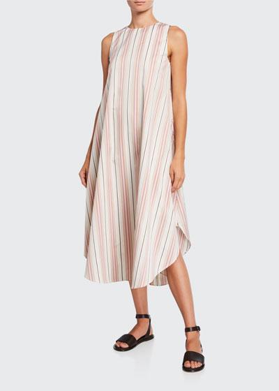 Nadine Striped Cotton Flowy Shift Dress