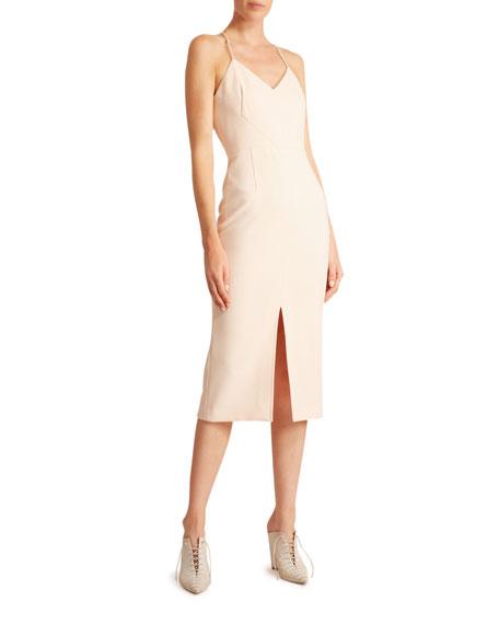 V-Neck Slit-Front Dress