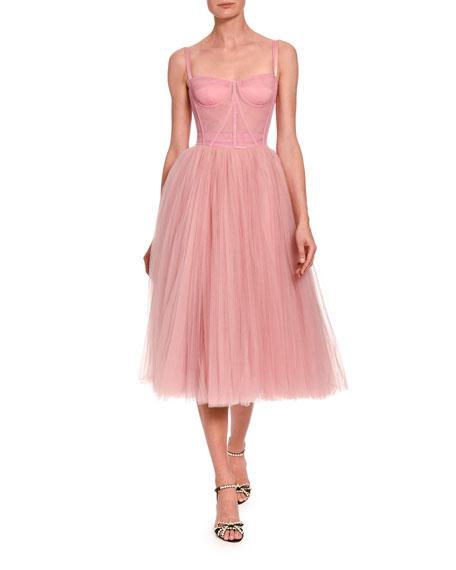Tulle Bustier Tea Length Dress by Dolce & Gabbana