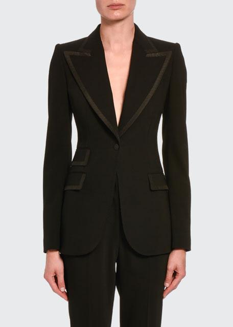 Wool Single-Breasted Jacket