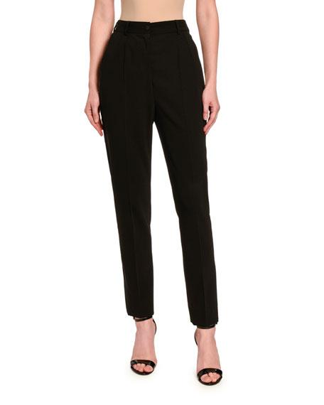 Wool Skinny Pants