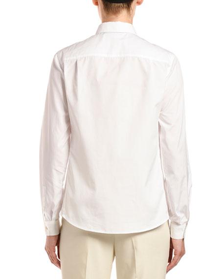 Poplin Button-Front Blouse