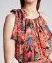 Wayta Geometric Print Maxi Halter Dress