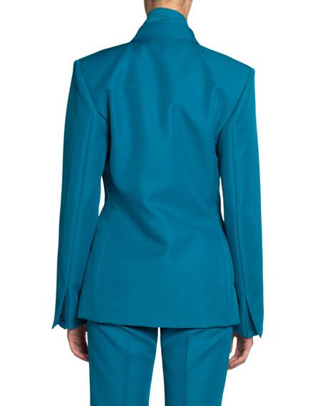 Tech Twill Double-Breasted Blazer Jacket