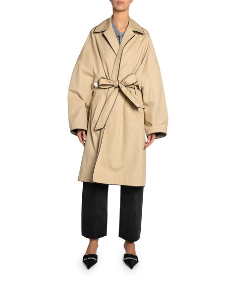 Wrapped Cotton Cocoon Short Coat