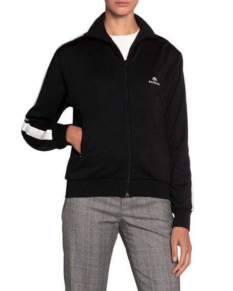 Jersey High-Neck Track Jacket