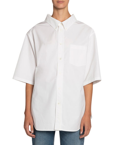 Button-Down Short-Sleeve Swing Shirt