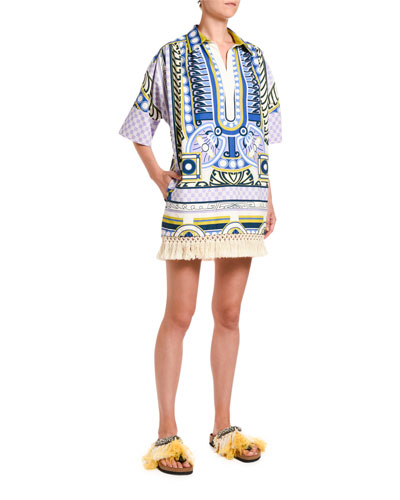 Honolulu Fringe-Hem Cotton Tunic