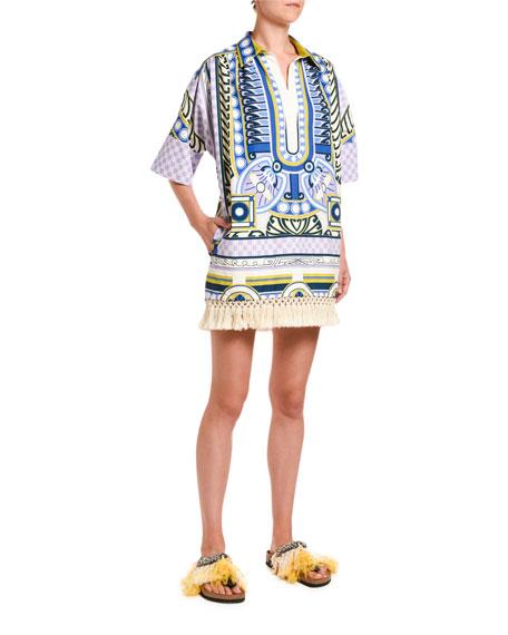 Honolulu Fringe-Hem Cotton Tunic