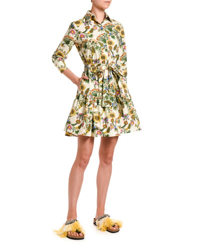 Short Bellini Floral-Print Dress