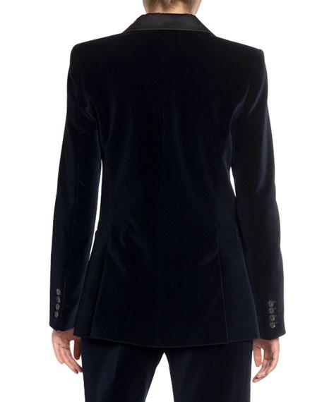 Velvet Jacket w/ Satin Collar