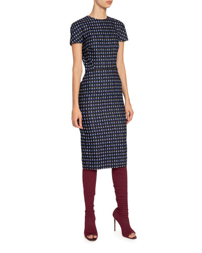 Houndstooth Jacquard T-Shirt Dress