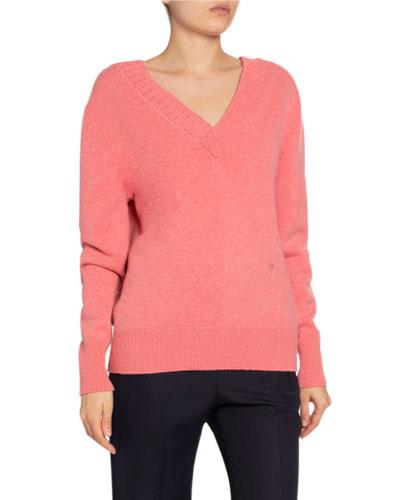 Stretch Cashmere V-Neck Sweater