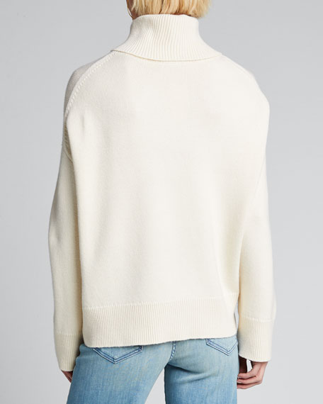 Wool/Cashmere Knit Turtleneck Sweater