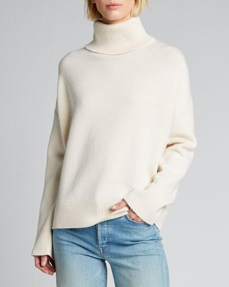 Wool/Cashmere Knit Turtleneck Sweater