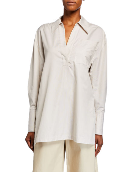 Half-Placket Cotton Tunic