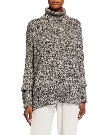Image 1 of 1: Merino Wool Knit Turtleneck Sweater