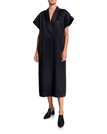 Fuji Satin Belted Wrap Dress