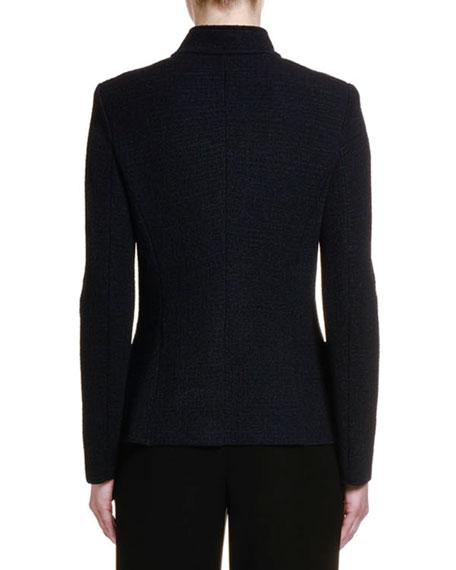 Stretch-Melange Jersey Snap-Front Jacket