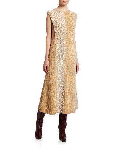 Dembe Patchwork Cotton Sleeveless Dress