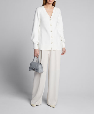 Ruched Parachute Cardigan