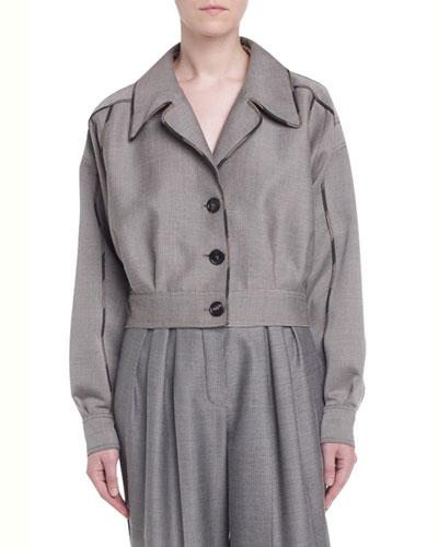 Cropped Drop-Shoulder Menswear Jacket