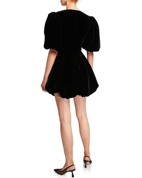 Leona Velvet Deep-V Mini Dress
