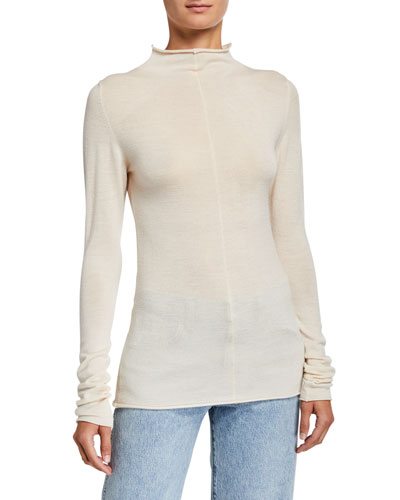 Lola Cashmere Mock-Neck Sweater