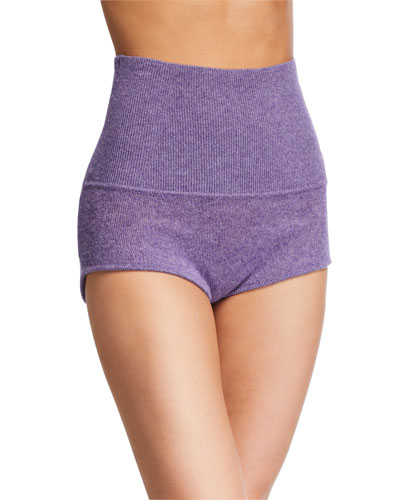 Belinda Cashmere High-Rise Shorts