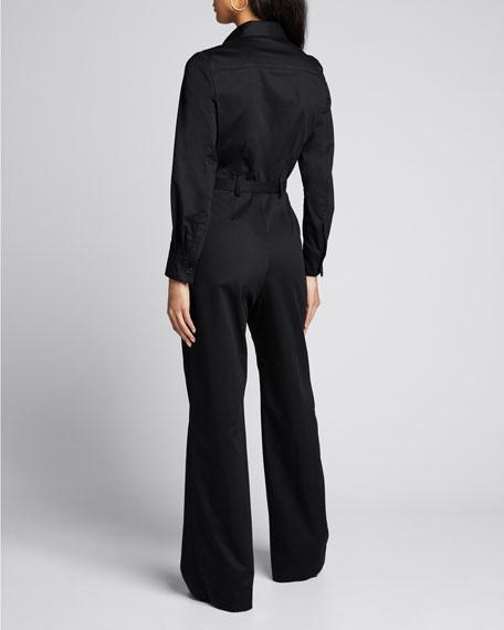 Josie Belted Cotton Jumpsuit