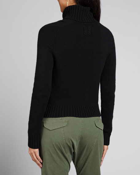 Atwood Cashmere Chunky-Knit Turtleneck Sweater