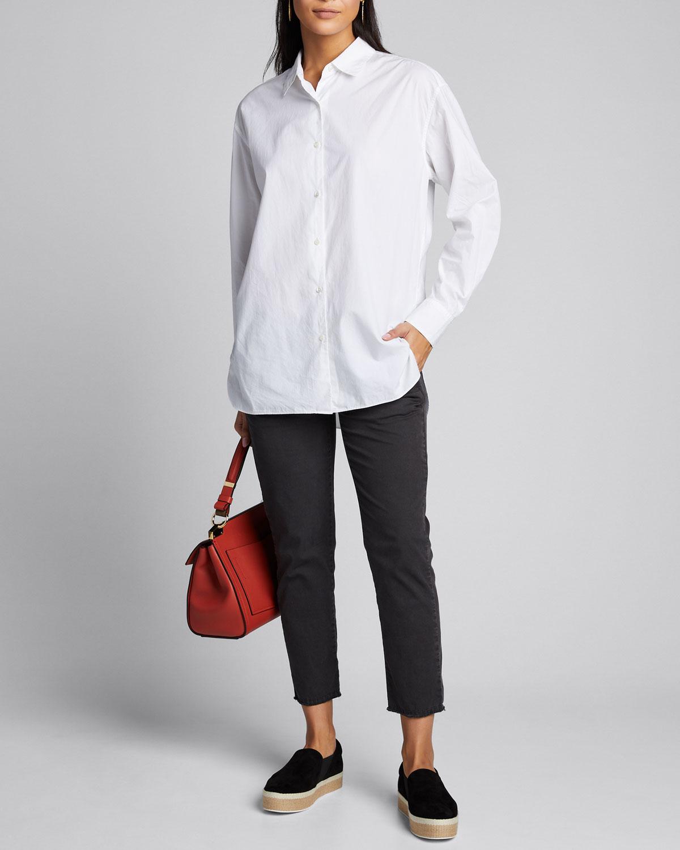 Nili Lotan T-shirts YORKE POPLIN SHIRT