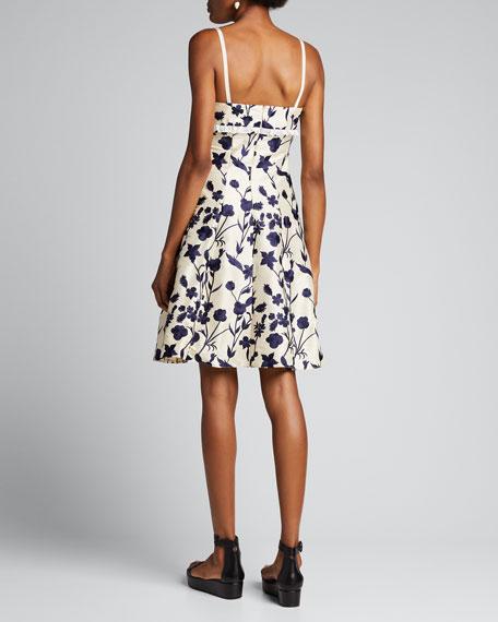 Lace-Trim Floral Print Dress