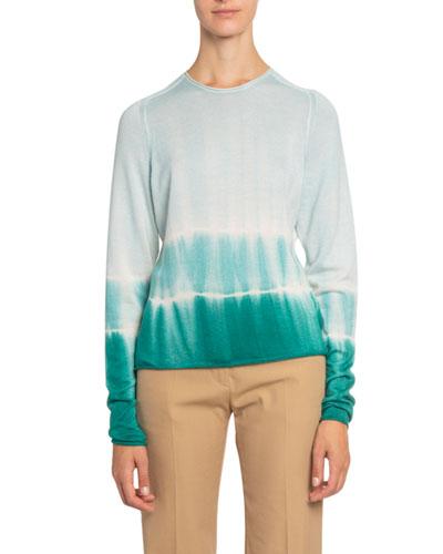 Ombre Tie-Dye Long-Sleeve Sweater