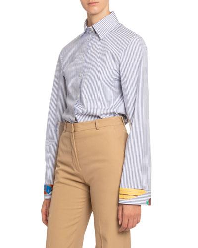 Artisanal Striped Cotton Shirt