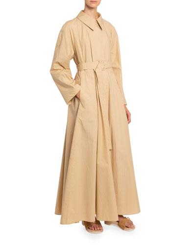 Lightweight Tech-Fabric Coat Dress